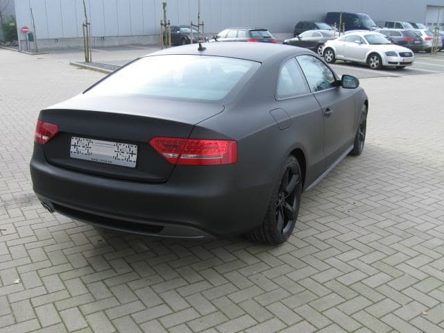 Audi A5 Coupe met Mat Zwarte Wrap, Carwrapping door Wrapmyride.nu Foto-nr:4604, ©2021