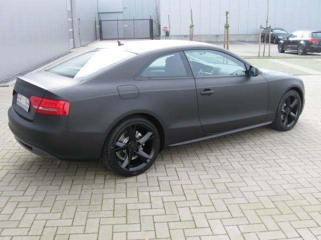 Audi A5 Coupe met Mat Zwarte Wrap, Carwrapping door Wrapmyride.nu Foto-nr:4605, ©2021