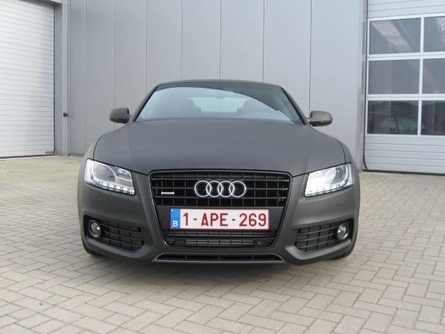 Audi A5 Coupe met Mat Zwarte Wrap, Carwrapping door Wrapmyride.nu Foto-nr:4606, ©2021