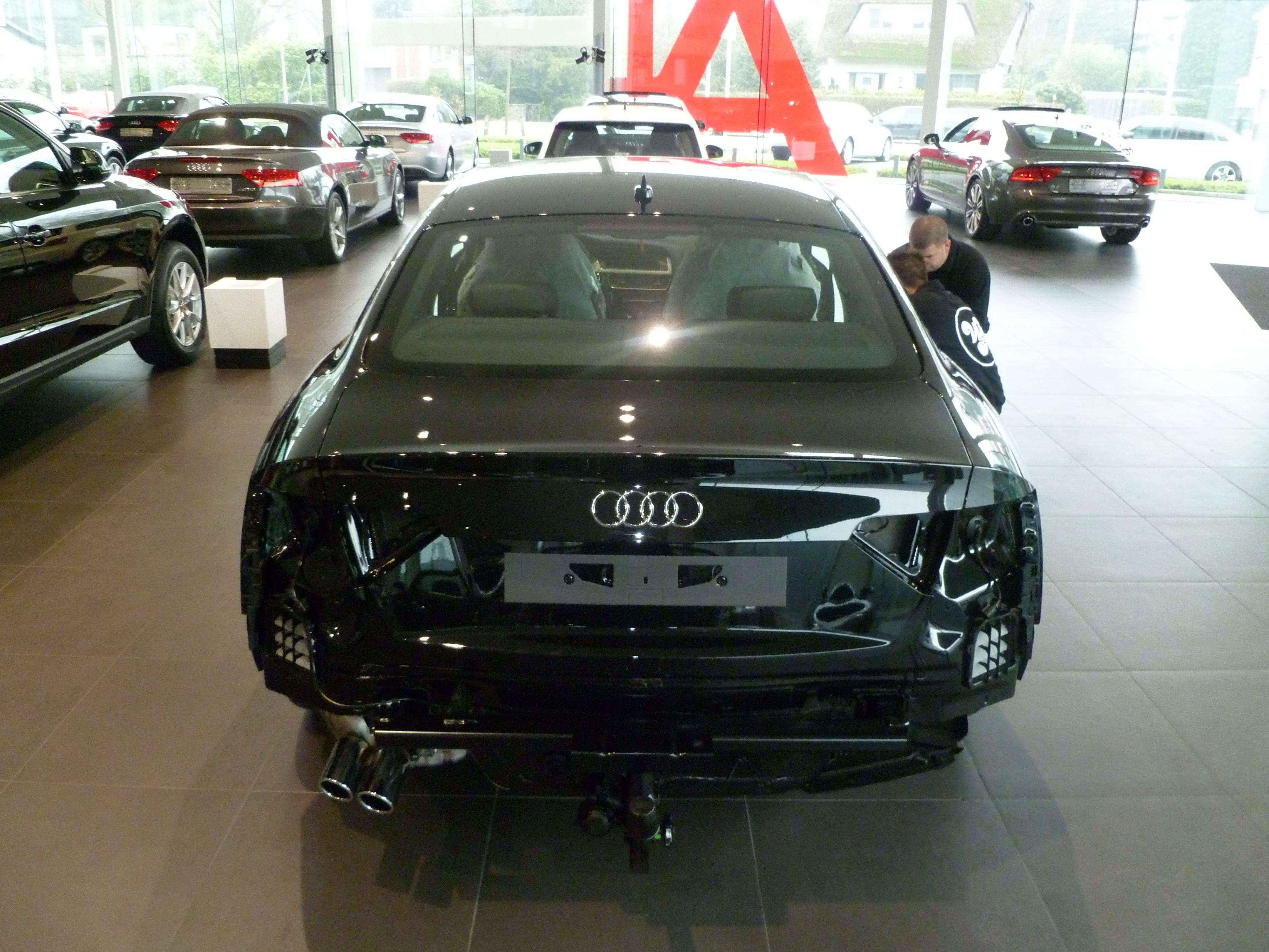 Audi A5 Coupe met Mat Zwarte Wrap, Carwrapping door Wrapmyride.nu Foto-nr:4613, ©2021