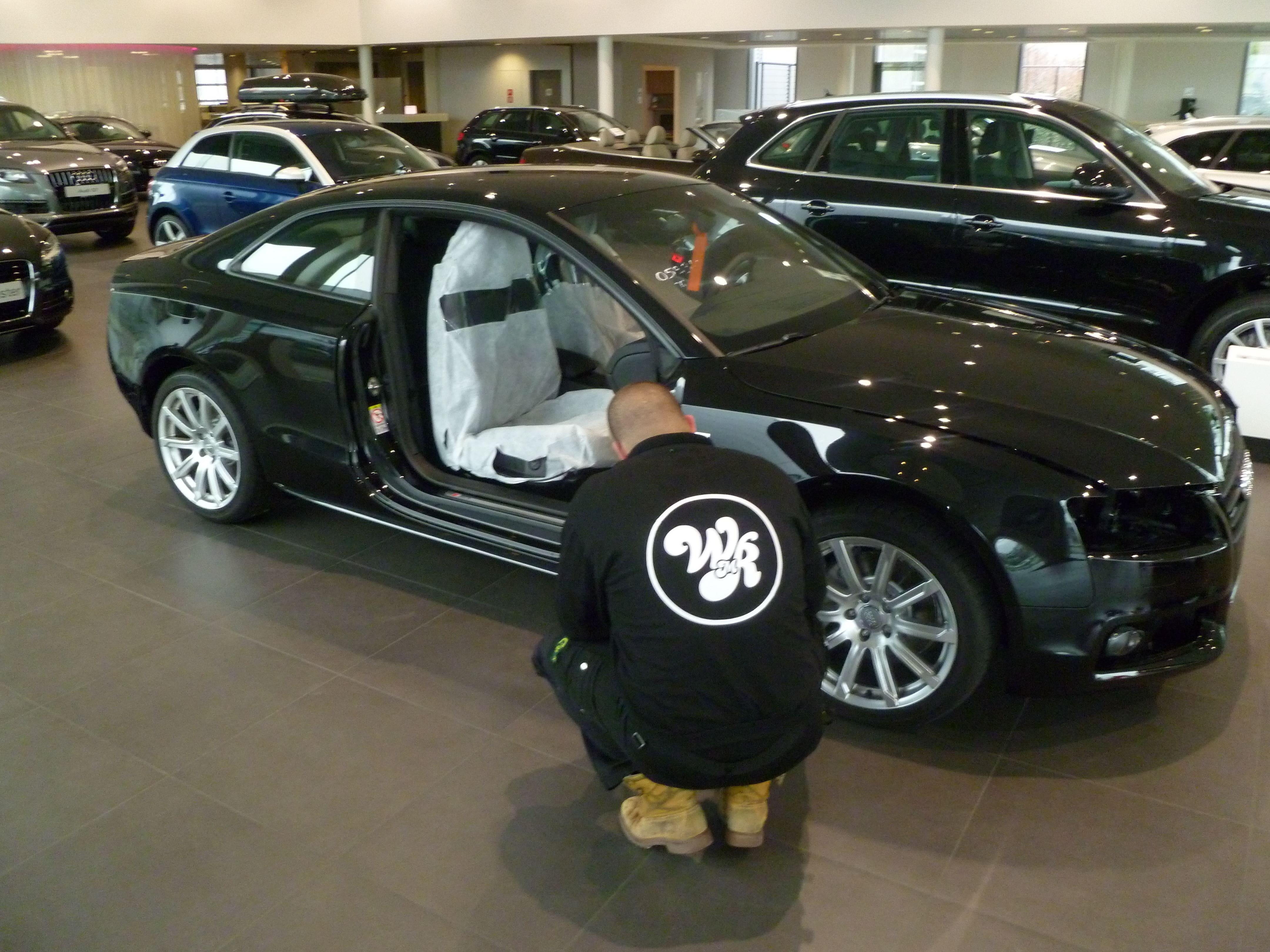 Audi A5 Coupe met Mat Zwarte Wrap, Carwrapping door Wrapmyride.nu Foto-nr:4615, ©2021
