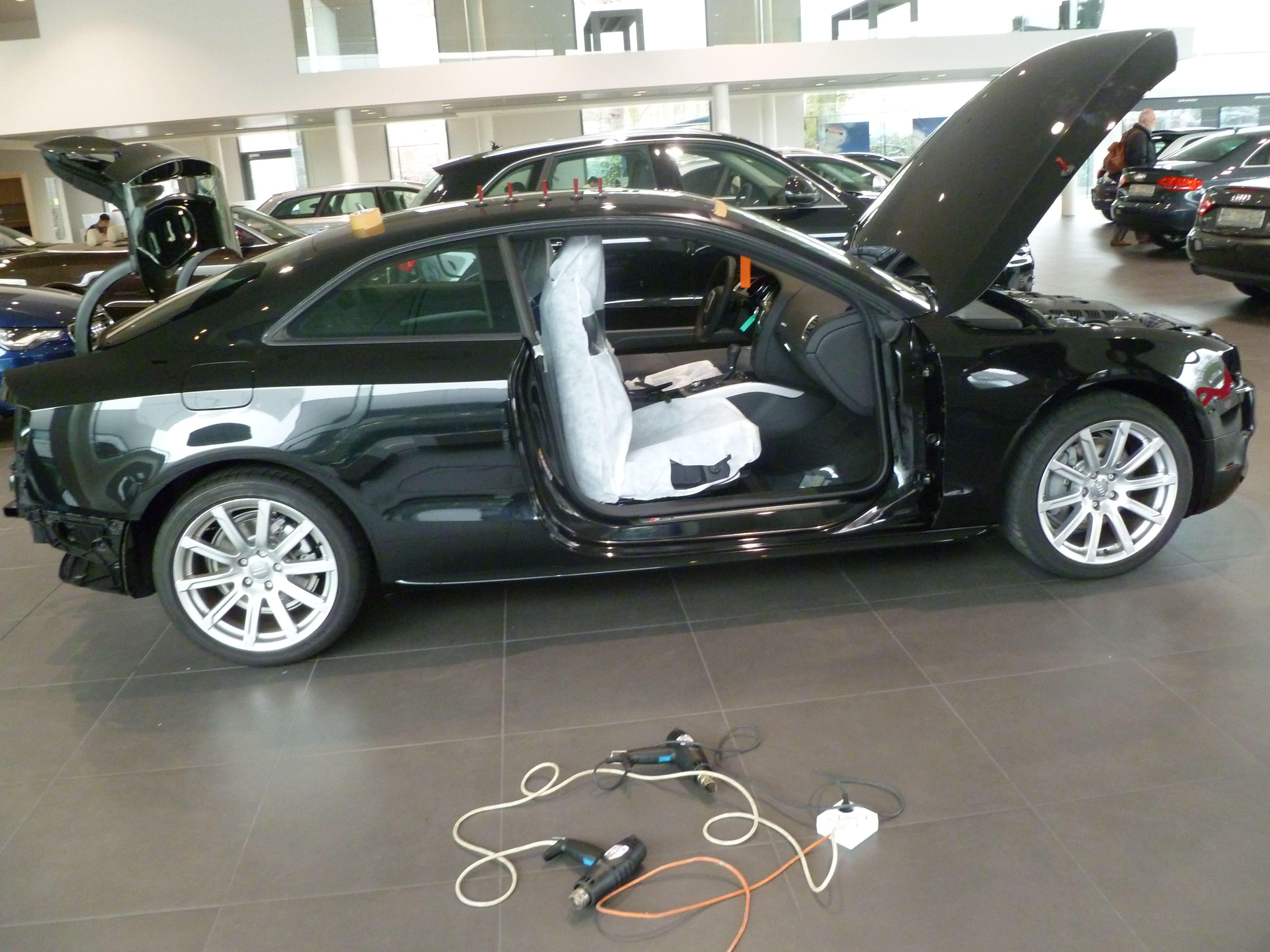 Audi A5 Coupe met Mat Zwarte Wrap, Carwrapping door Wrapmyride.nu Foto-nr:4616, ©2021