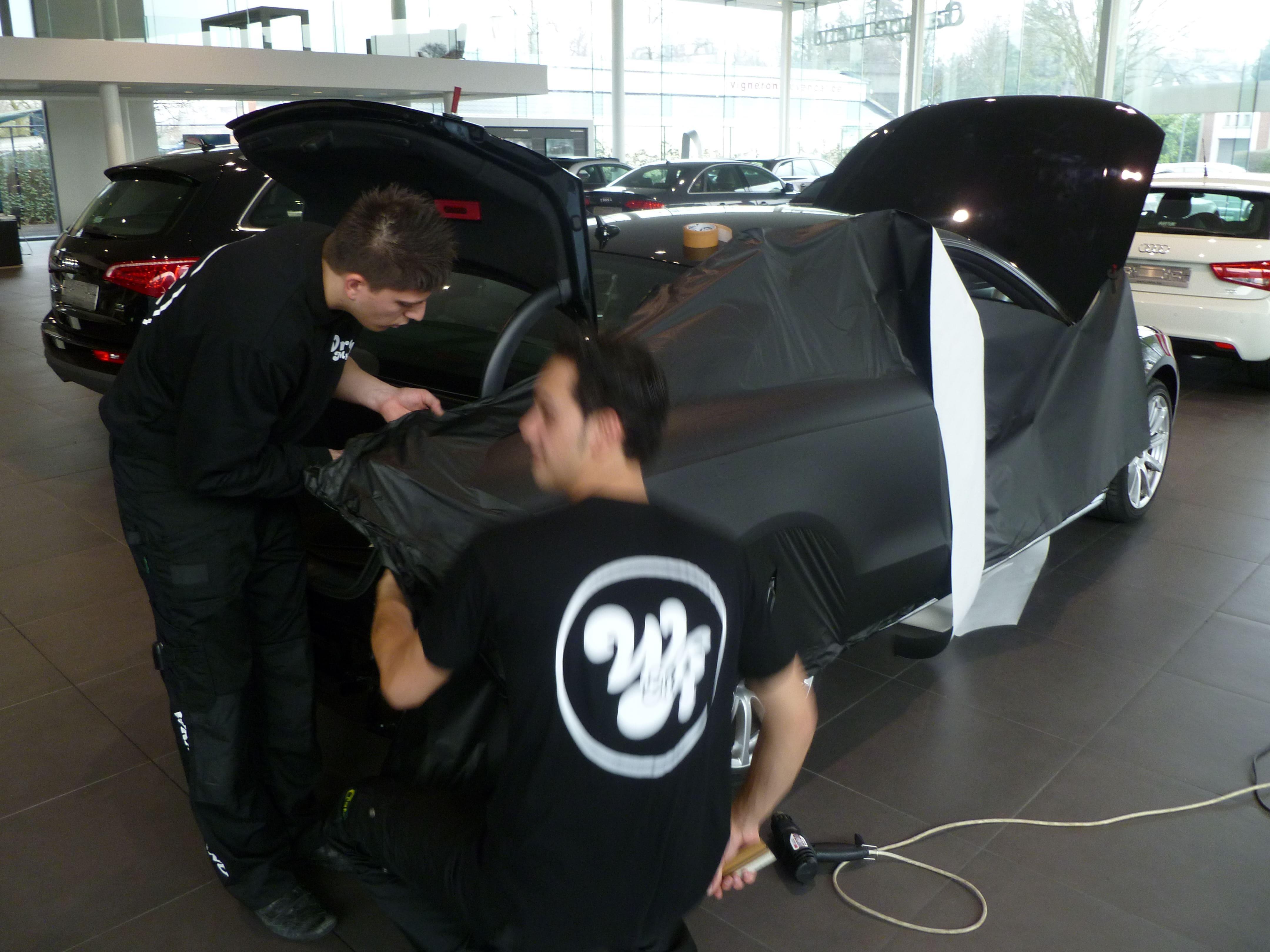 Audi A5 Coupe met Mat Zwarte Wrap, Carwrapping door Wrapmyride.nu Foto-nr:4618, ©2021