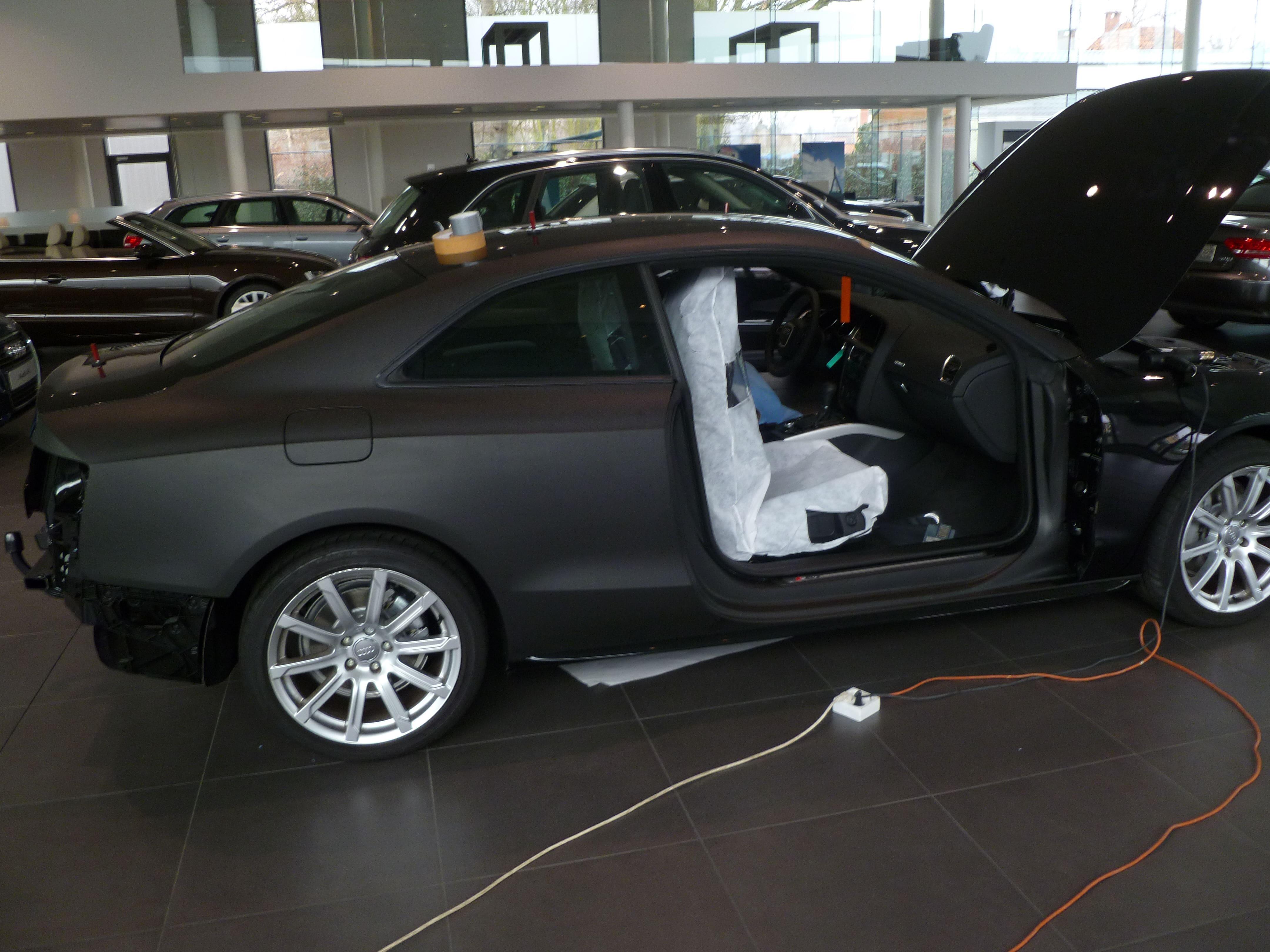 Audi A5 Coupe met Mat Zwarte Wrap, Carwrapping door Wrapmyride.nu Foto-nr:4619, ©2021