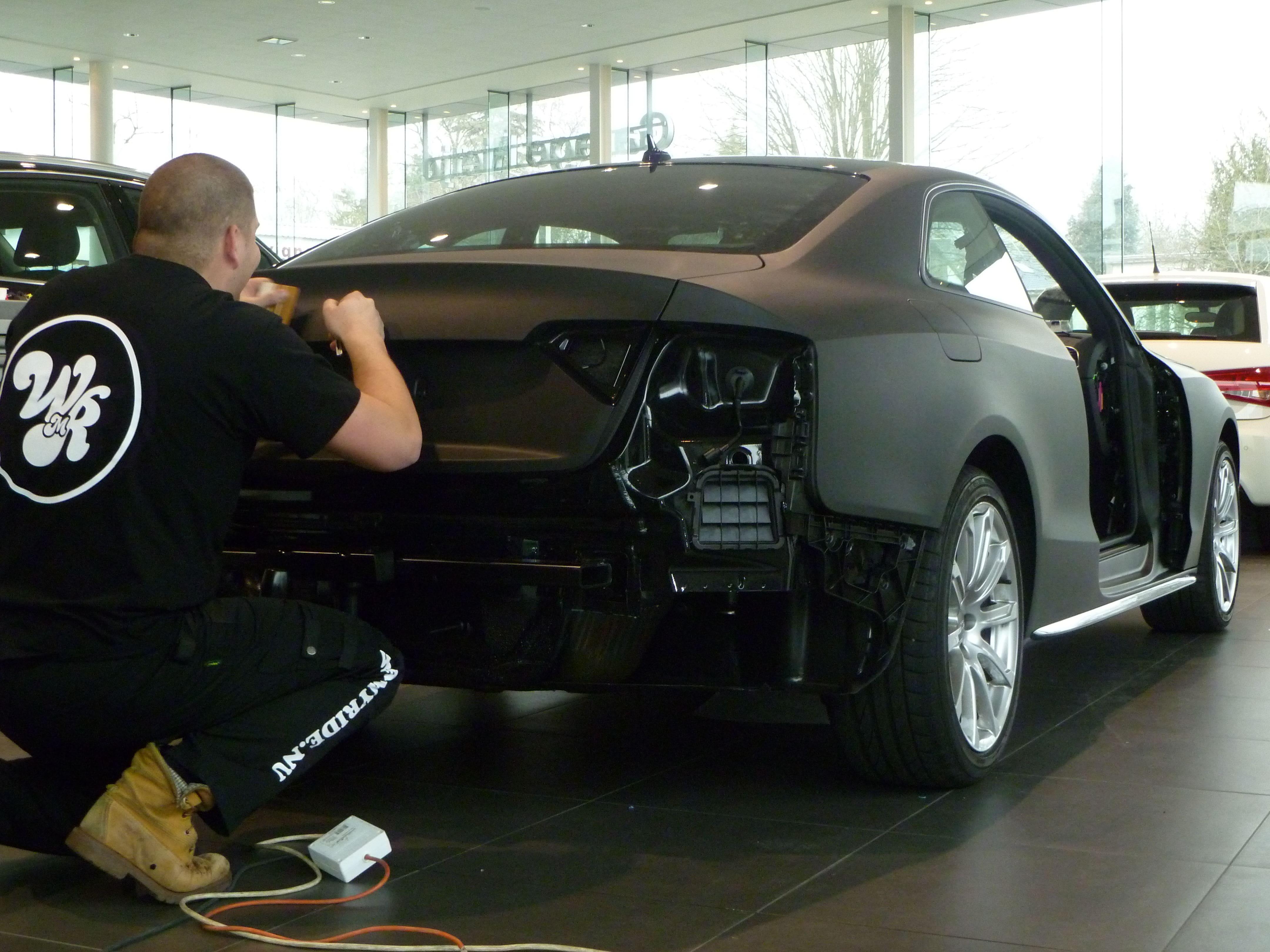 Audi A5 Coupe met Mat Zwarte Wrap, Carwrapping door Wrapmyride.nu Foto-nr:4623, ©2021
