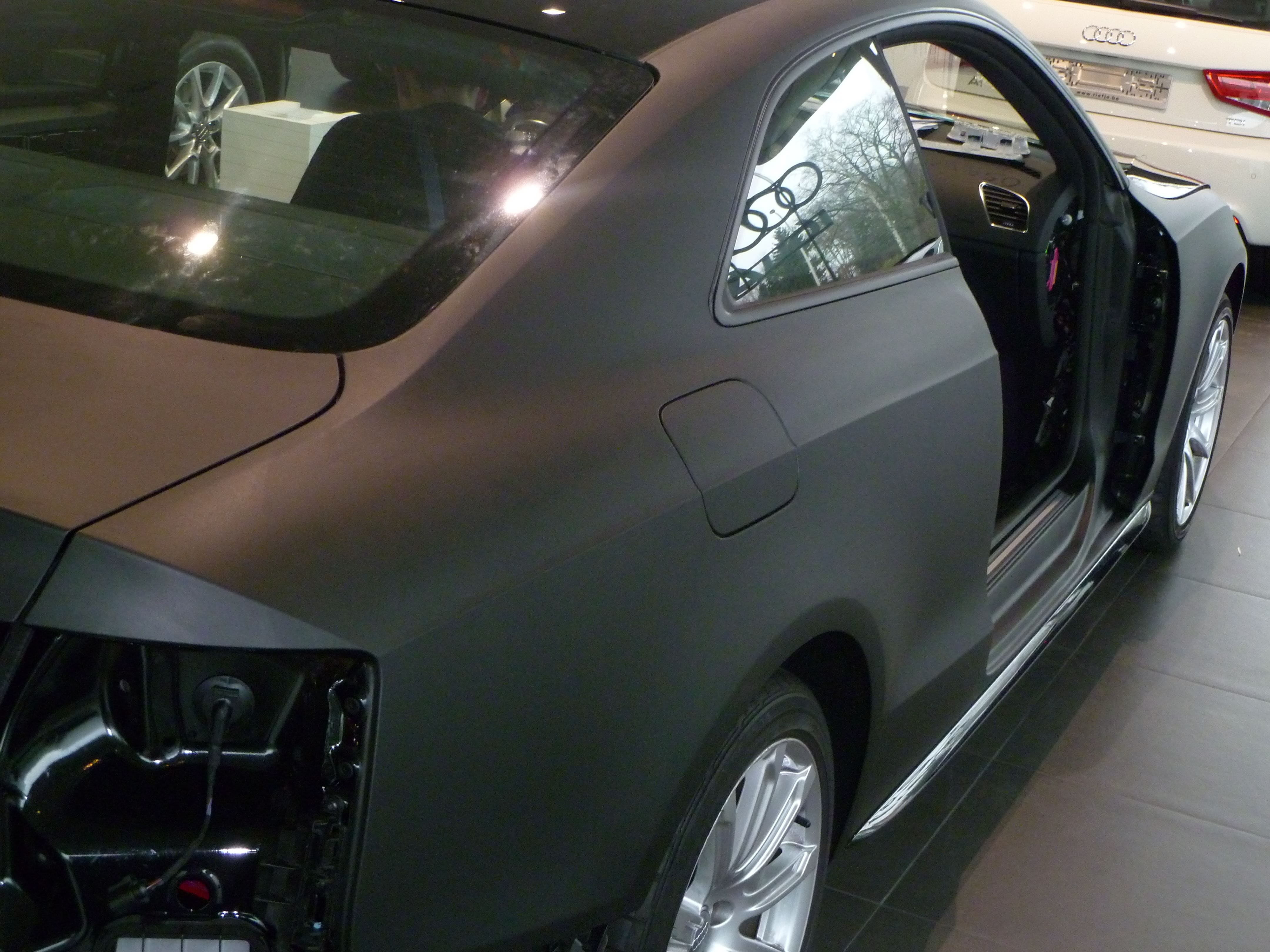 Audi A5 Coupe met Mat Zwarte Wrap, Carwrapping door Wrapmyride.nu Foto-nr:4624, ©2021