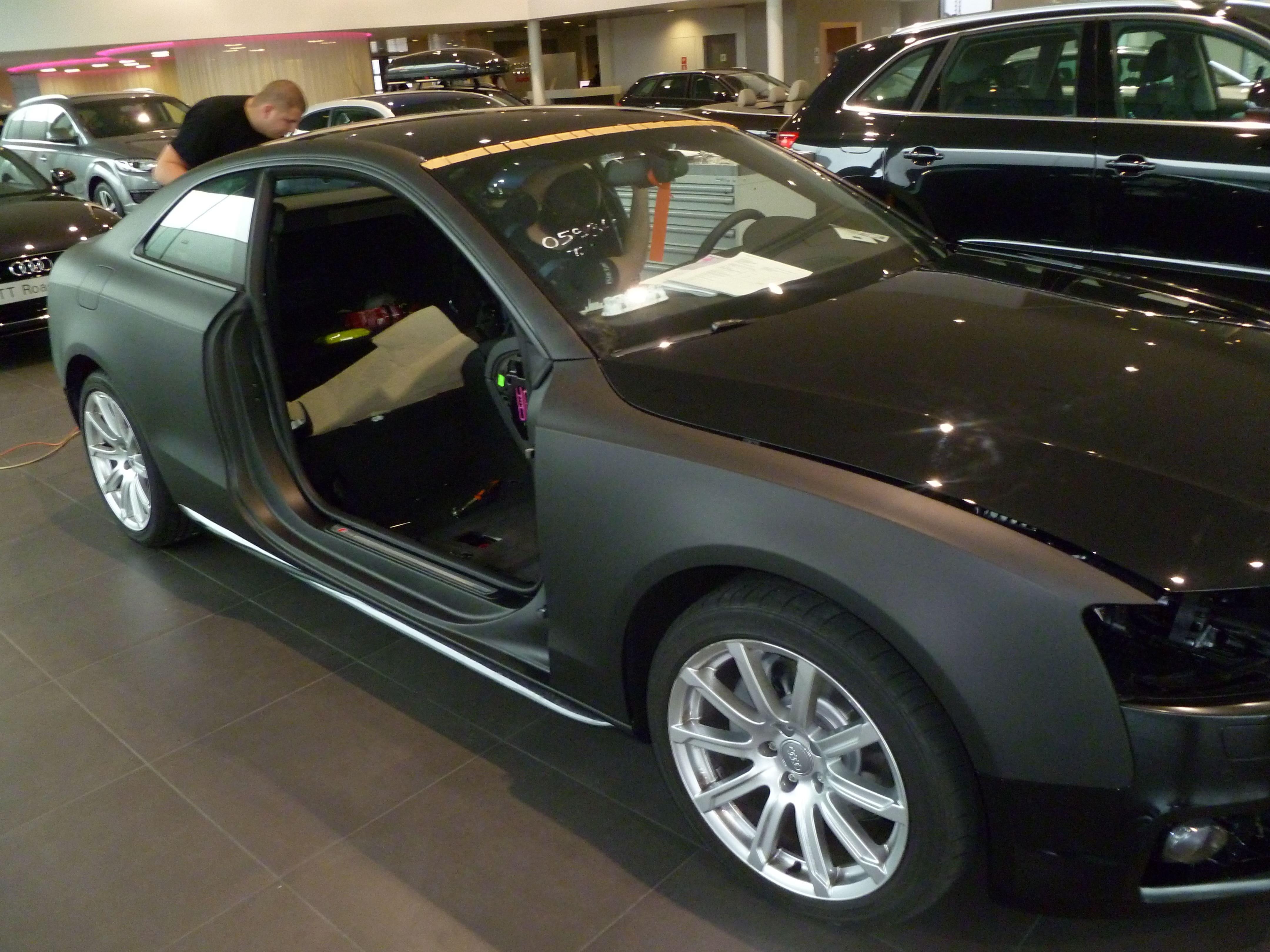 Audi A5 Coupe met Mat Zwarte Wrap, Carwrapping door Wrapmyride.nu Foto-nr:4625, ©2021