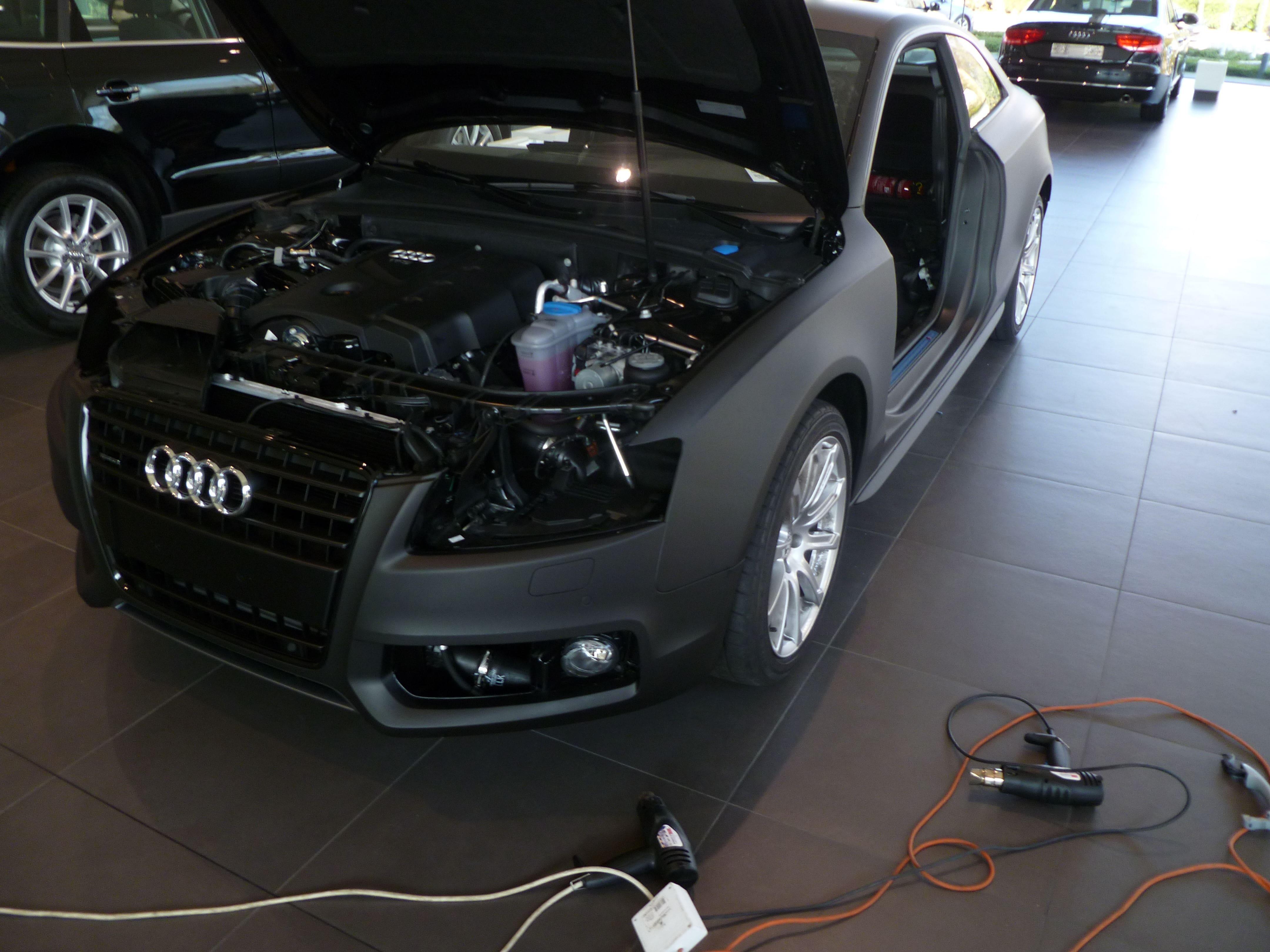 Audi A5 Coupe met Mat Zwarte Wrap, Carwrapping door Wrapmyride.nu Foto-nr:4641, ©2021