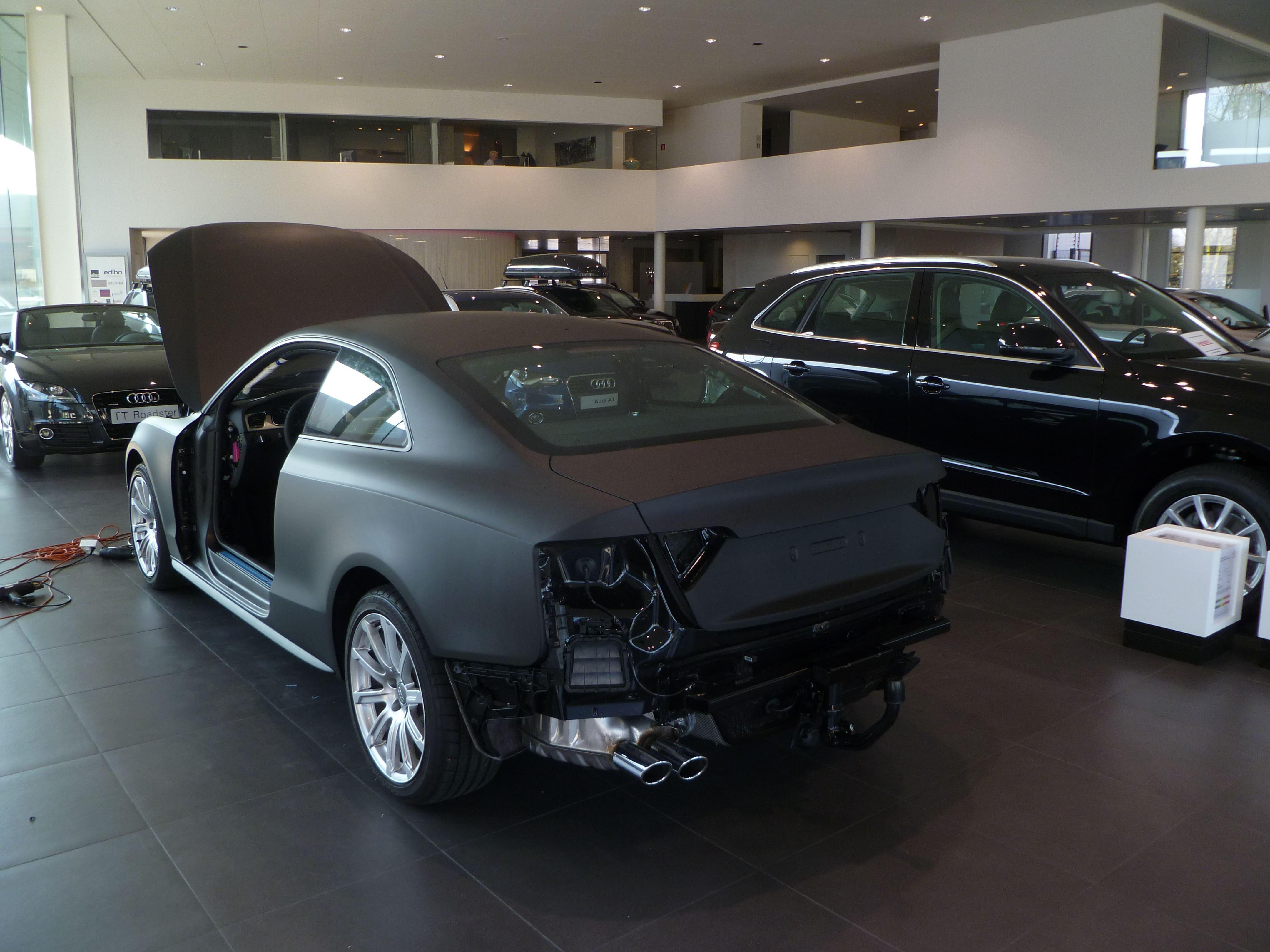 Audi A5 Coupe met Mat Zwarte Wrap, Carwrapping door Wrapmyride.nu Foto-nr:4646, ©2021