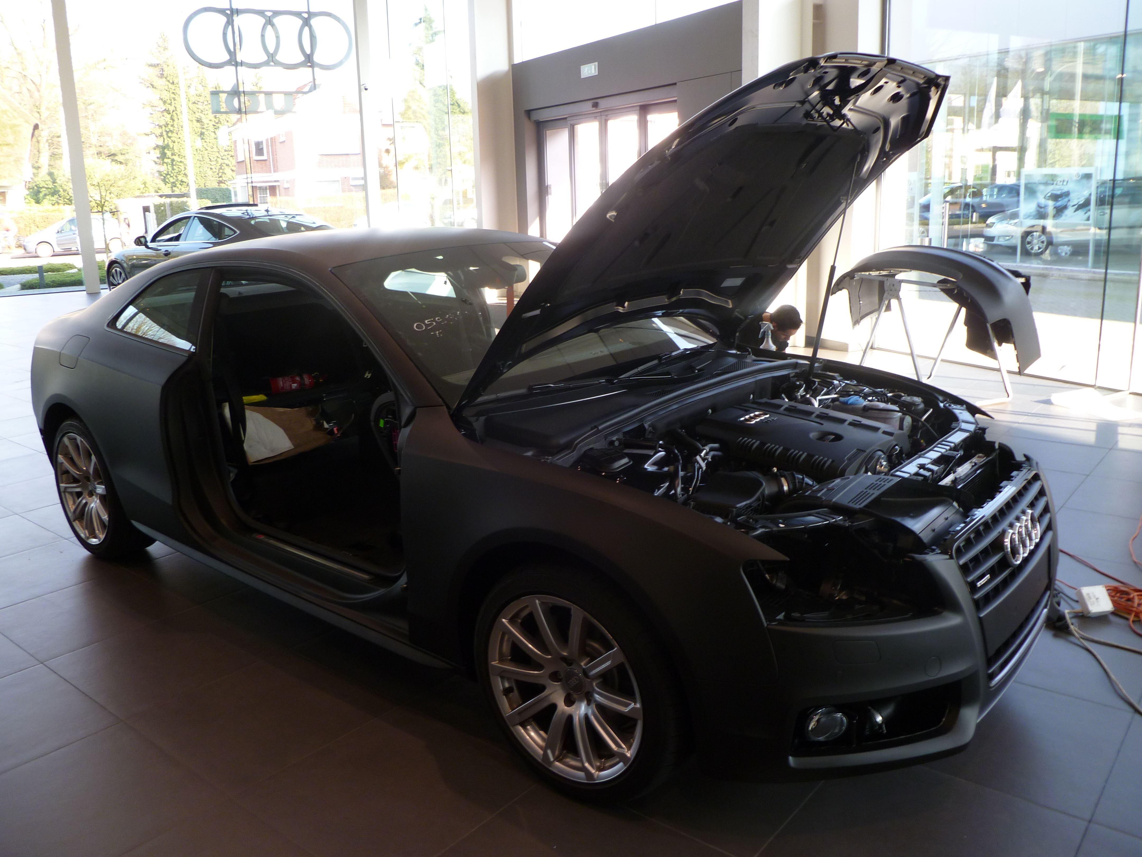 Audi A5 Coupe met Mat Zwarte Wrap, Carwrapping door Wrapmyride.nu Foto-nr:4647, ©2021