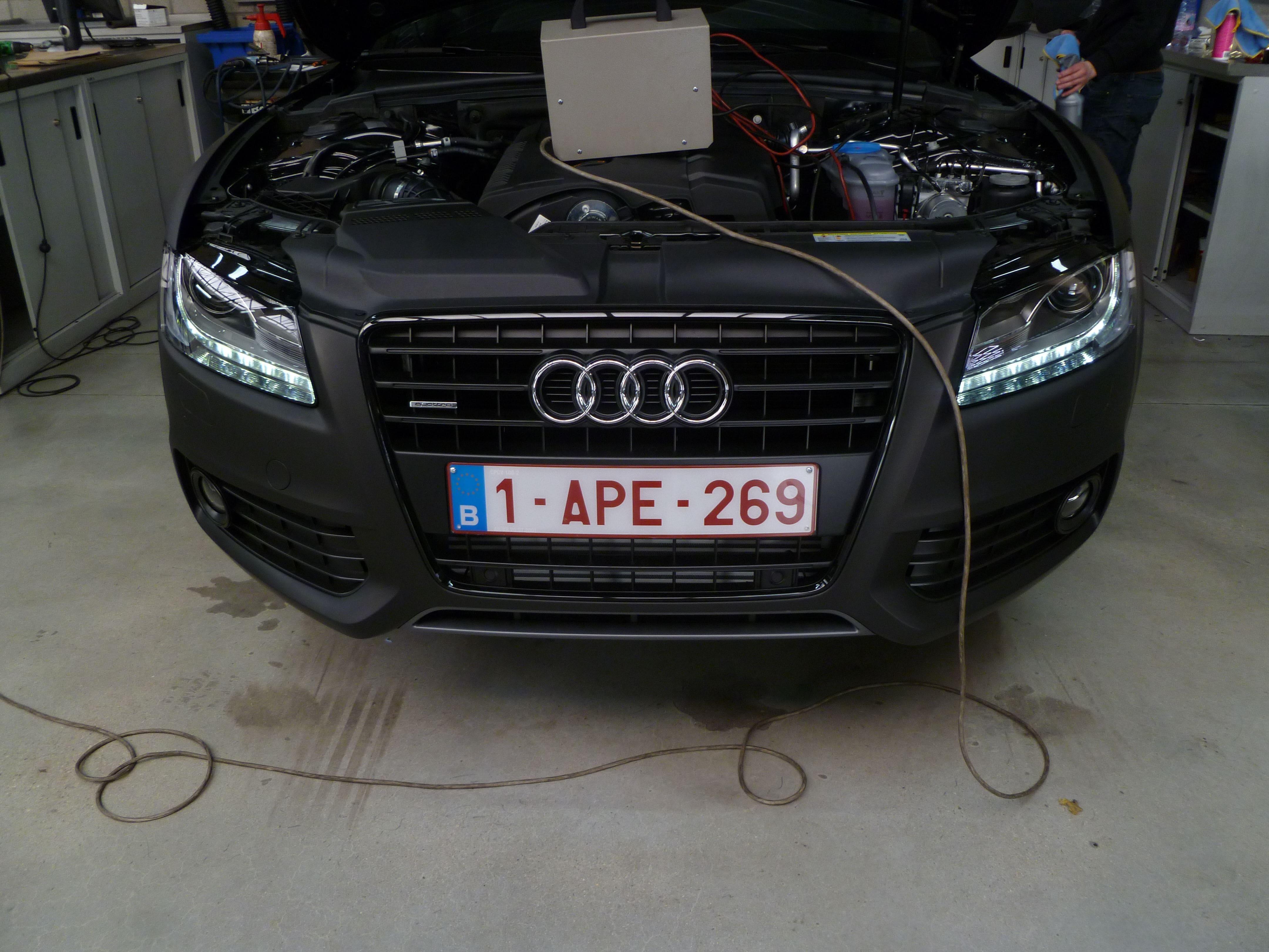 Audi A5 Coupe met Mat Zwarte Wrap, Carwrapping door Wrapmyride.nu Foto-nr:4648, ©2021