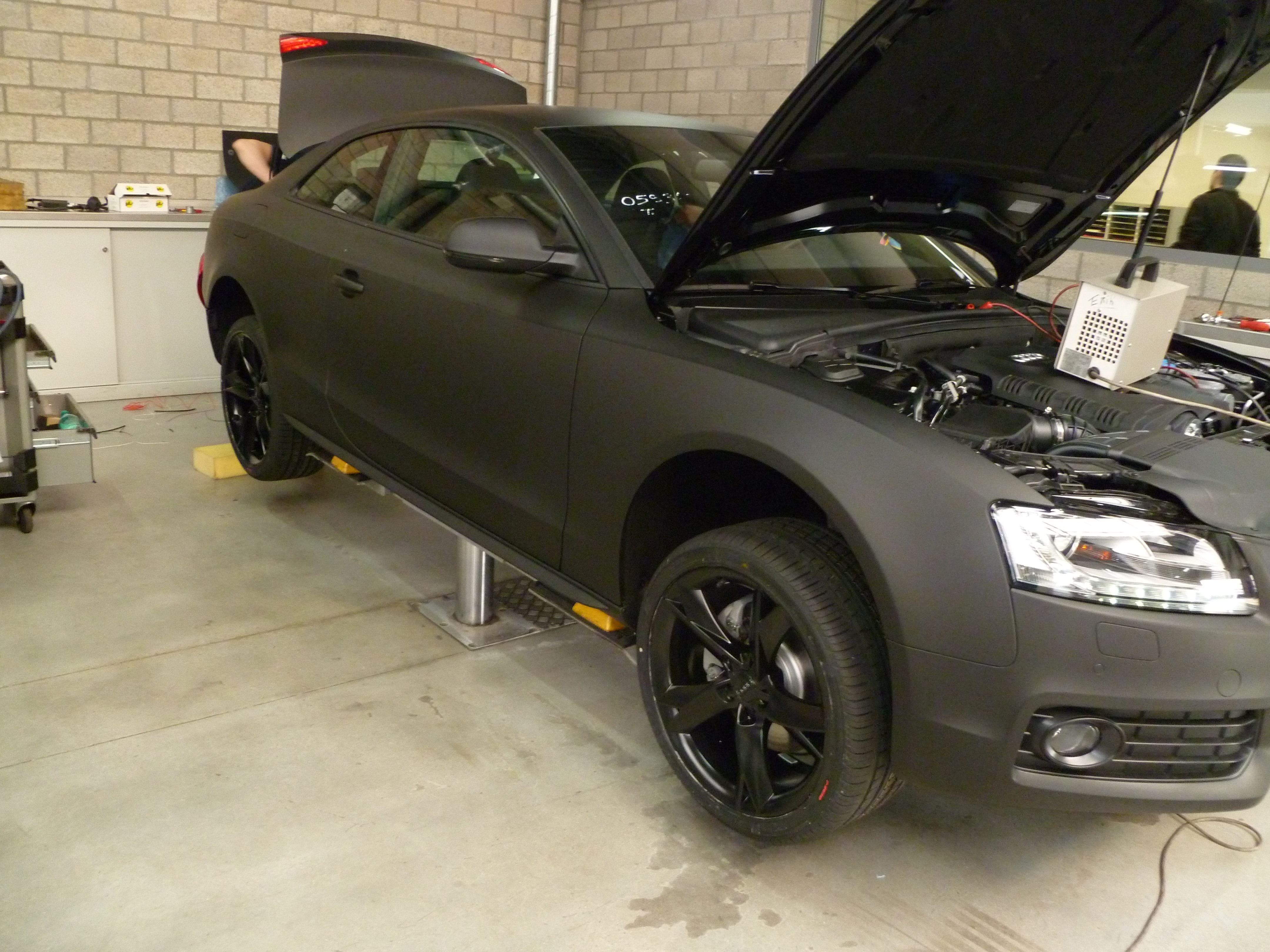 Audi A5 Coupe met Mat Zwarte Wrap, Carwrapping door Wrapmyride.nu Foto-nr:4649, ©2021