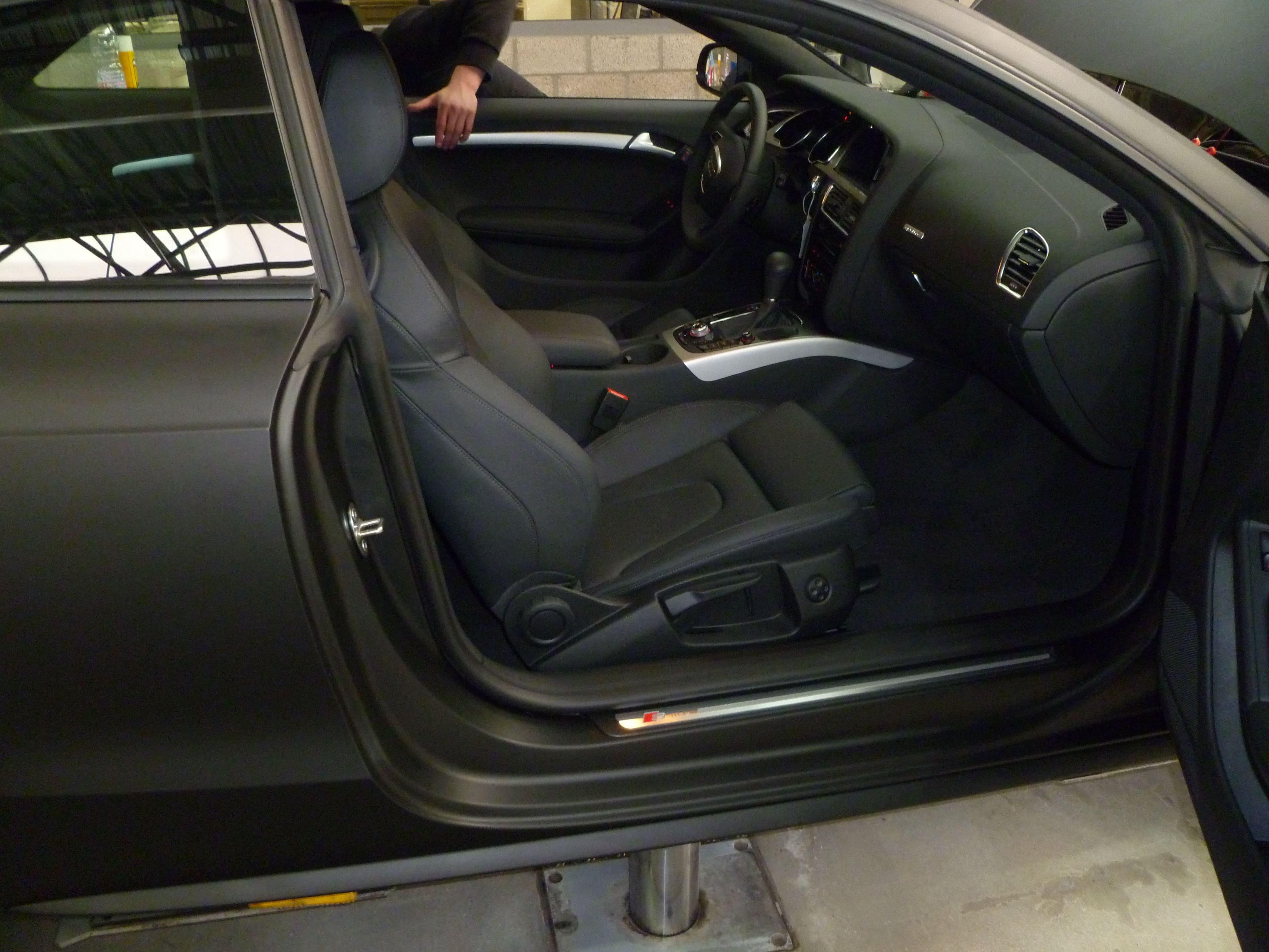 Audi A5 Coupe met Mat Zwarte Wrap, Carwrapping door Wrapmyride.nu Foto-nr:4651, ©2021