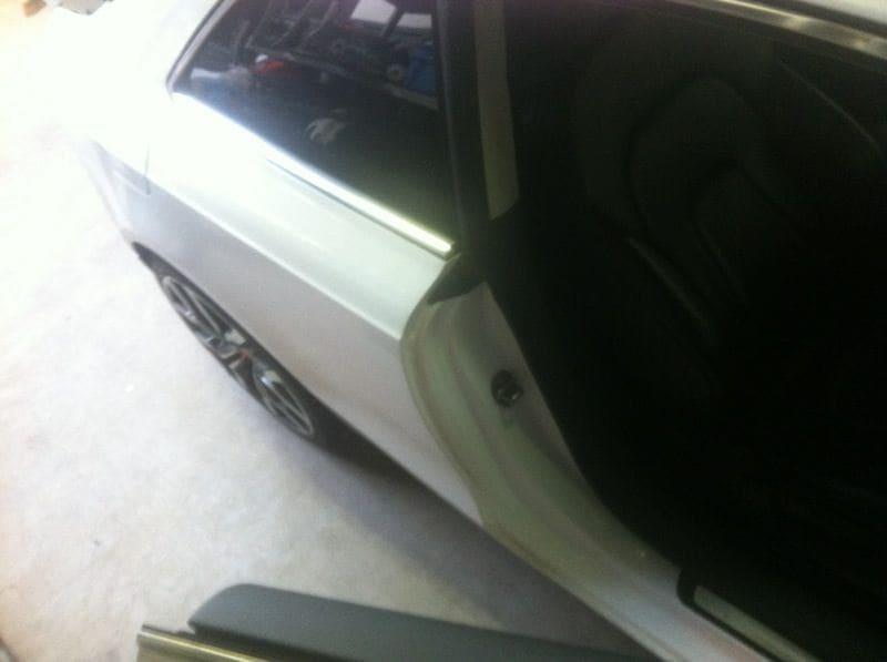 Audi A5 coupe met Metallic Witte Wrap, Carwrapping door Wrapmyride.nu Foto-nr:4668, ©2021