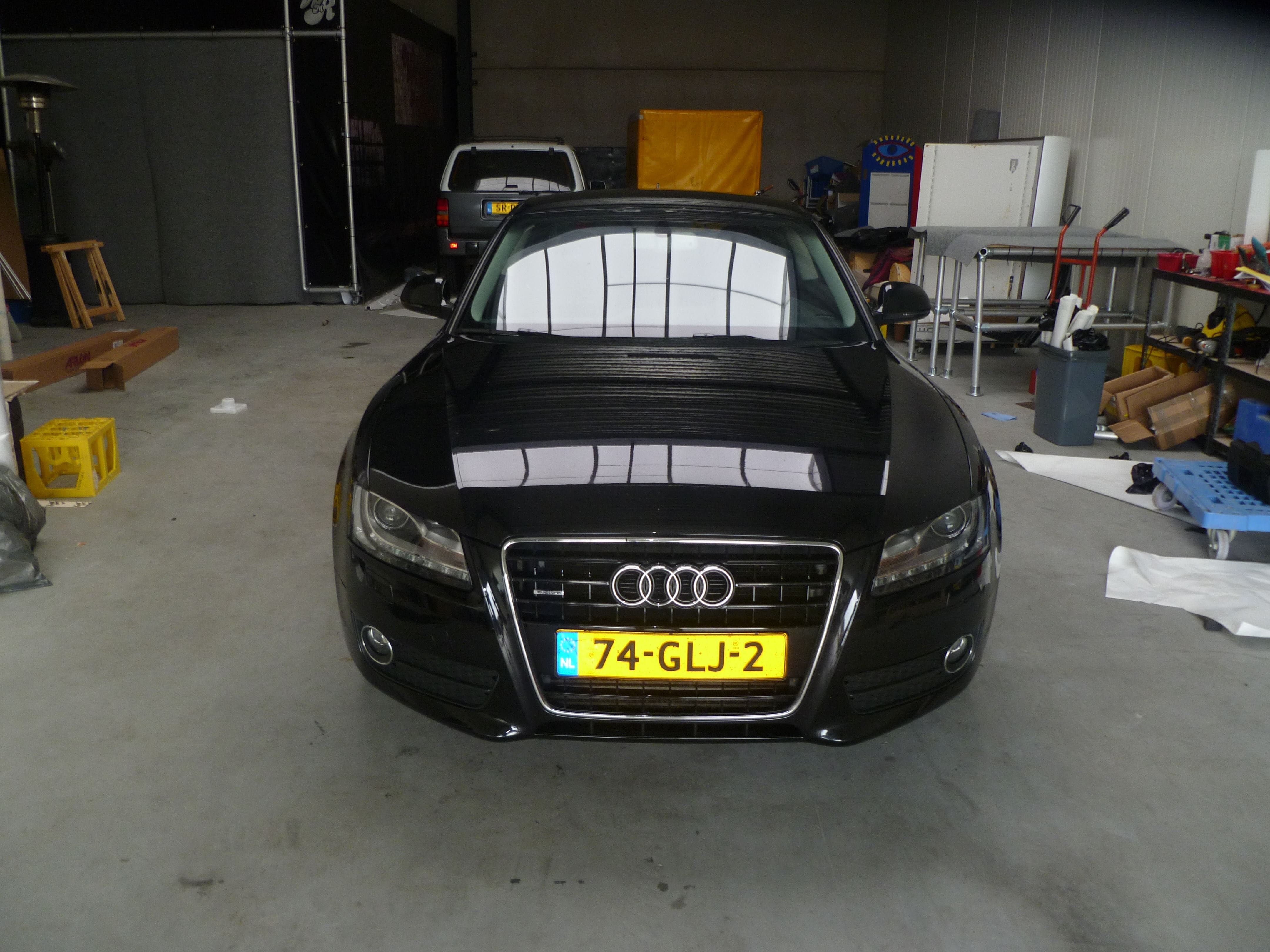Audi A5 coupe met Metallic Witte Wrap, Carwrapping door Wrapmyride.nu Foto-nr:4670, ©2020