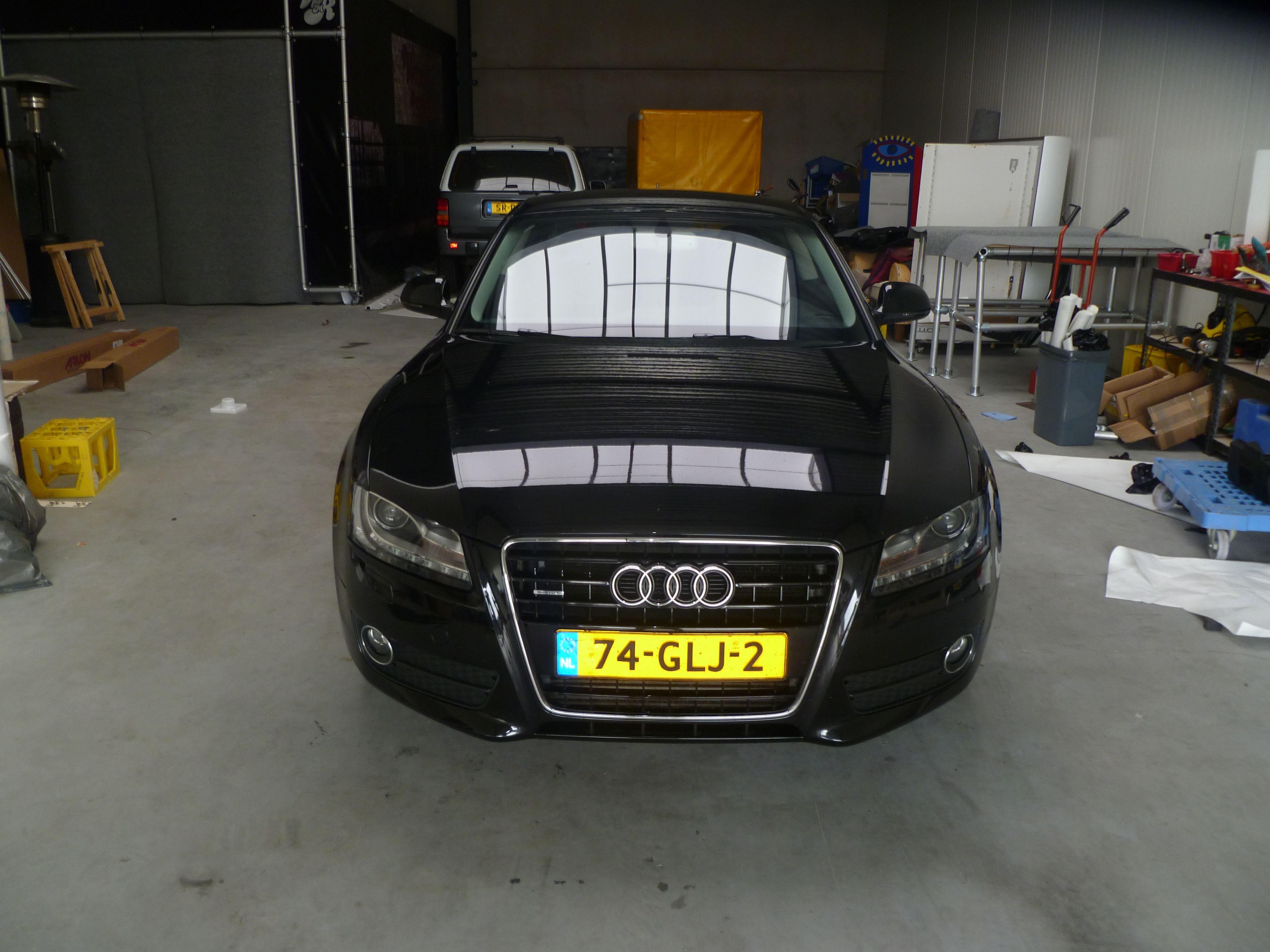 Audi A5 coupe met Metallic Witte Wrap, Carwrapping door Wrapmyride.nu Foto-nr:4670, ©2021