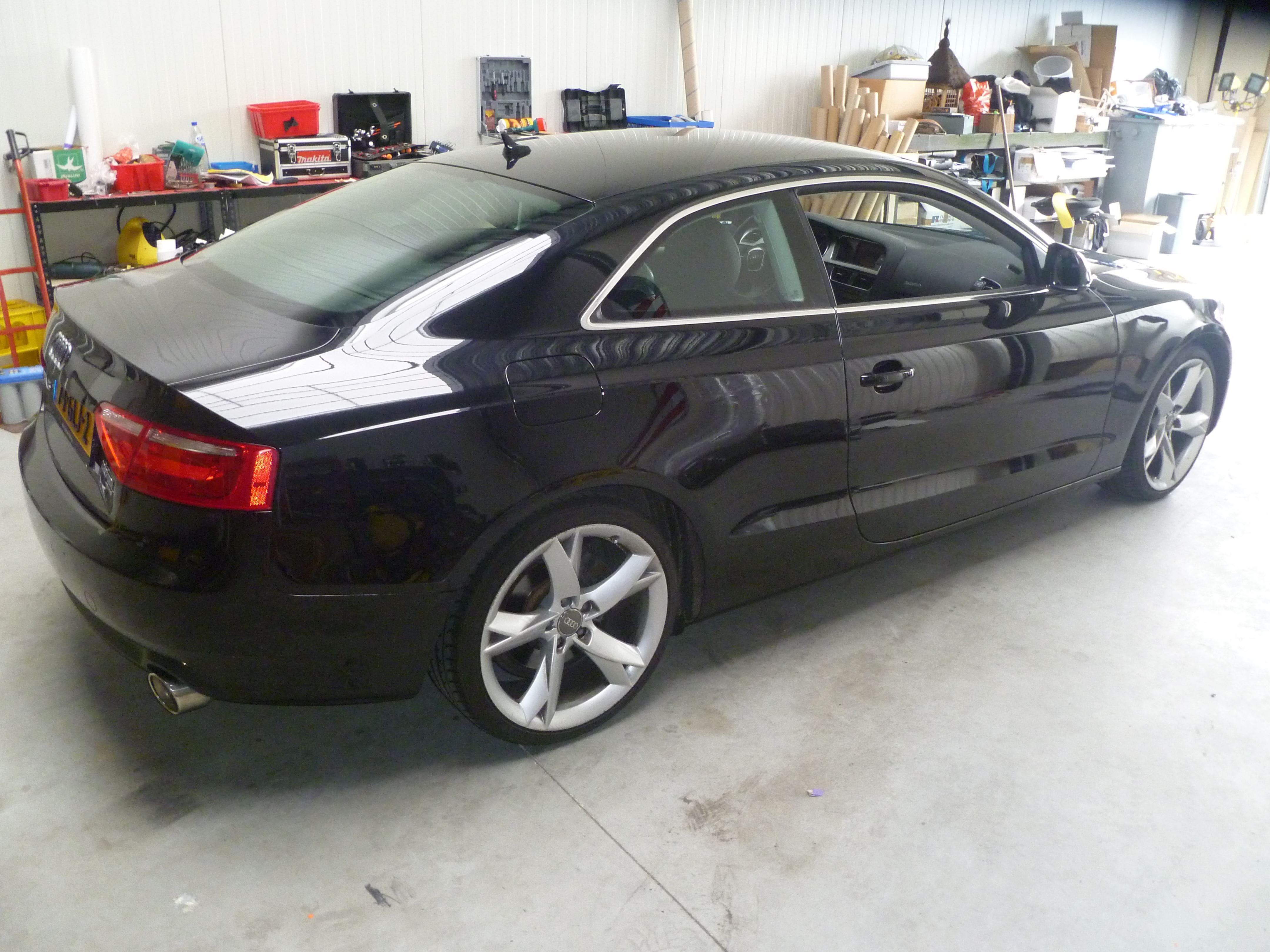 Audi A5 coupe met Metallic Witte Wrap, Carwrapping door Wrapmyride.nu Foto-nr:4672, ©2021