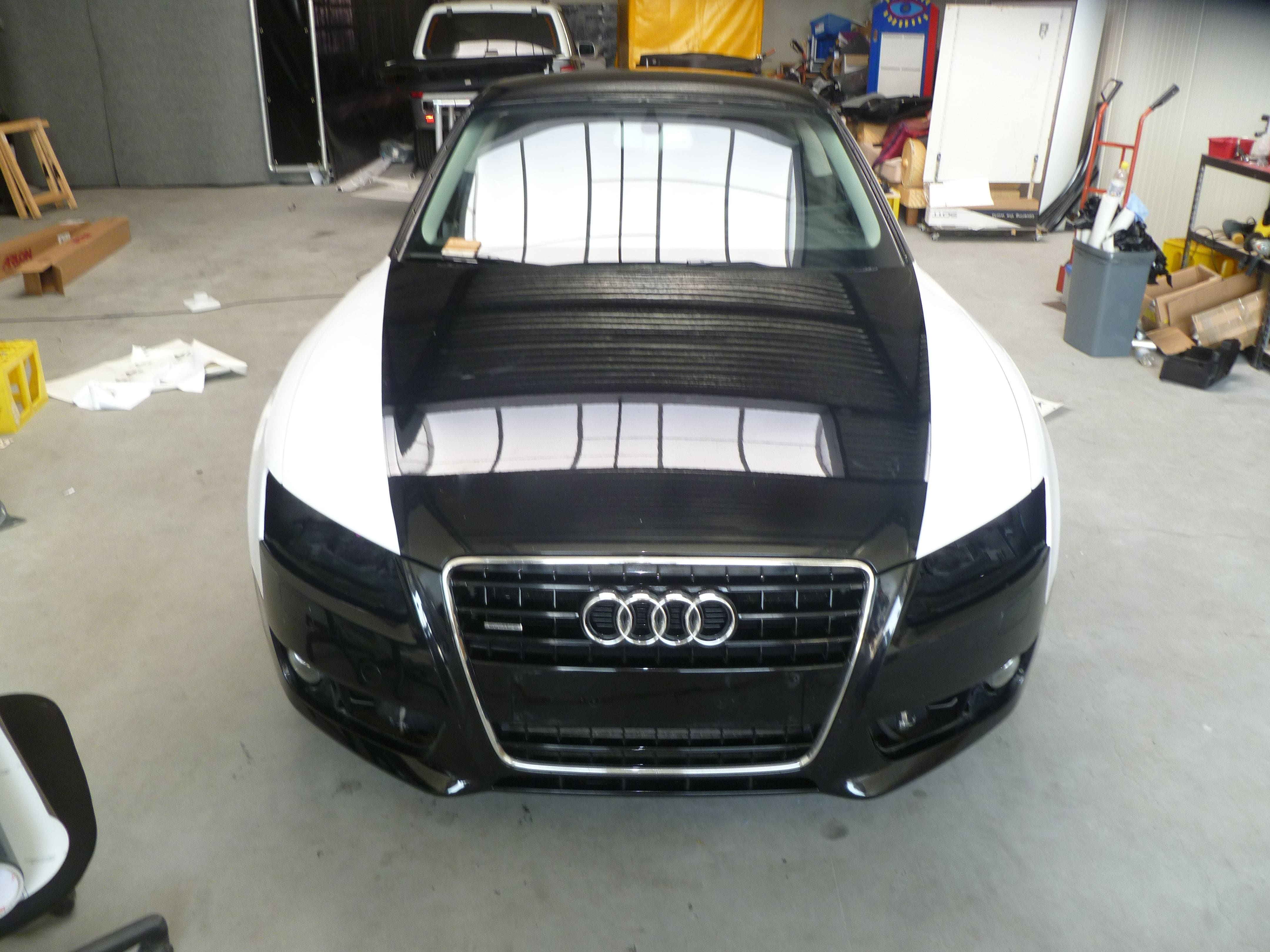 Audi A5 coupe met Metallic Witte Wrap, Carwrapping door Wrapmyride.nu Foto-nr:4697, ©2021