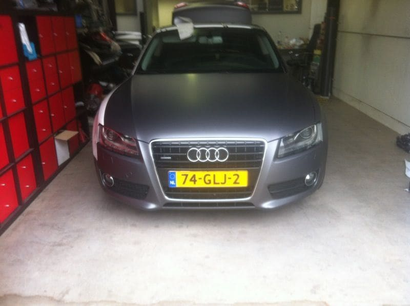 Audi A5 met Gunpowder Wrap, Carwrapping door Wrapmyride.nu Foto-nr:4751, ©2021