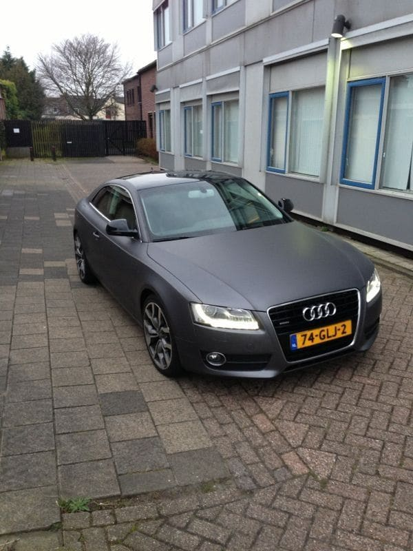 Audi A5 met Gunpowder Wrap, Carwrapping door Wrapmyride.nu Foto-nr:4752, ©2021