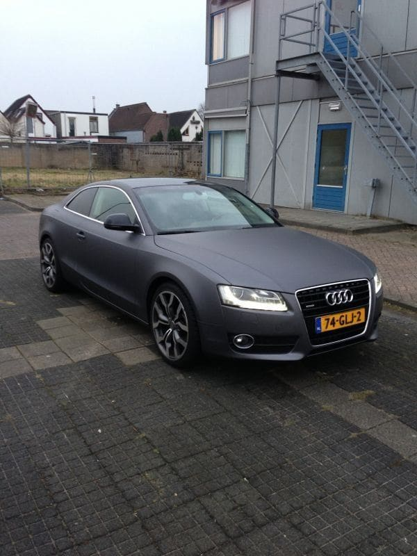 Audi A5 met Gunpowder Wrap, Carwrapping door Wrapmyride.nu Foto-nr:4753, ©2021