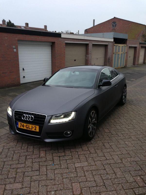 Audi A5 met Gunpowder Wrap, Carwrapping door Wrapmyride.nu Foto-nr:4754, ©2021