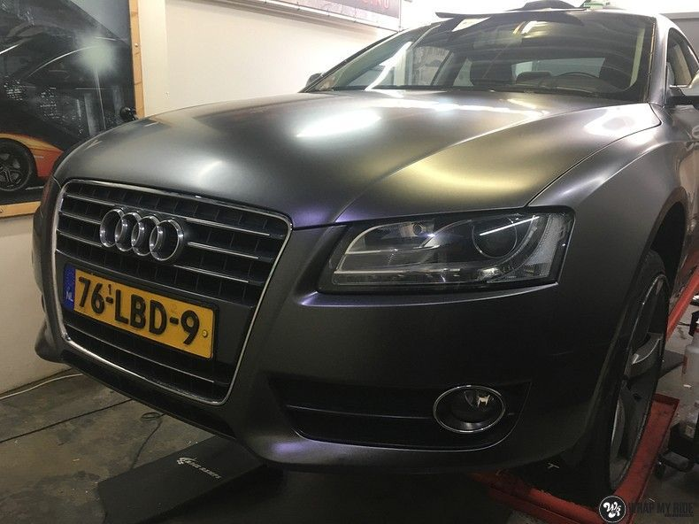 Audi A5 Satin Dark Grey, Carwrapping door Wrapmyride.nu Foto-nr:10801, ©2021