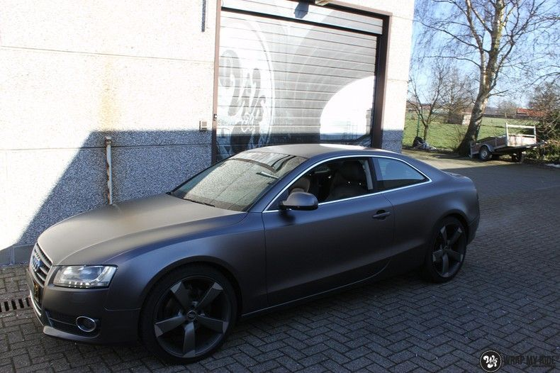 Audi A5 Satin Dark Grey, Carwrapping door Wrapmyride.nu Foto-nr:10792, ©2021