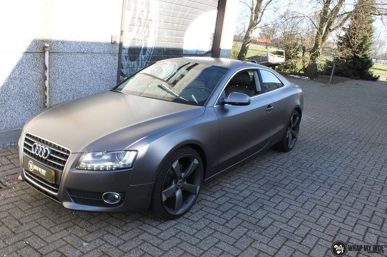 Audi A5 Satin Dark Grey, Carwrapping door Wrapmyride.nu Foto-nr:10791, ©2021