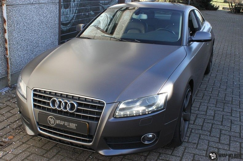 Audi A5 Satin Dark Grey, Carwrapping door Wrapmyride.nu Foto-nr:10790, ©2020
