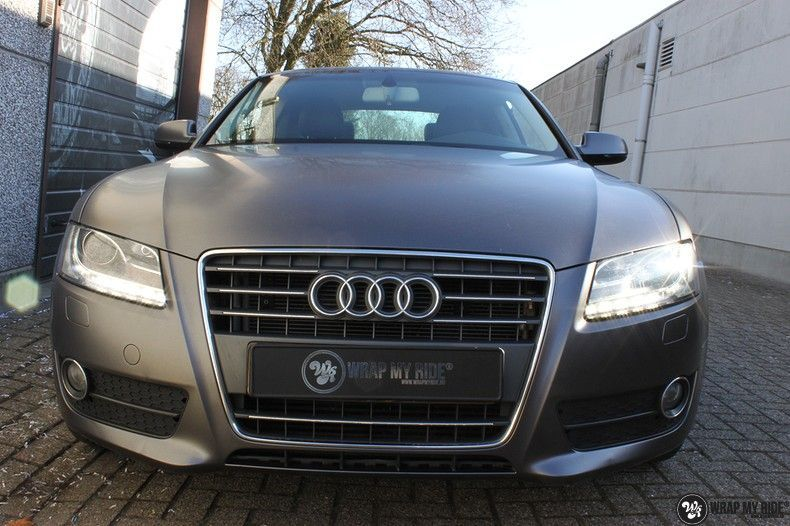Audi A5 Satin Dark Grey, Carwrapping door Wrapmyride.nu Foto-nr:10789, ©2021
