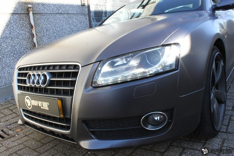 Audi A5 Satin Dark Grey, Carwrapping door Wrapmyride.nu Foto-nr:10788, ©2021