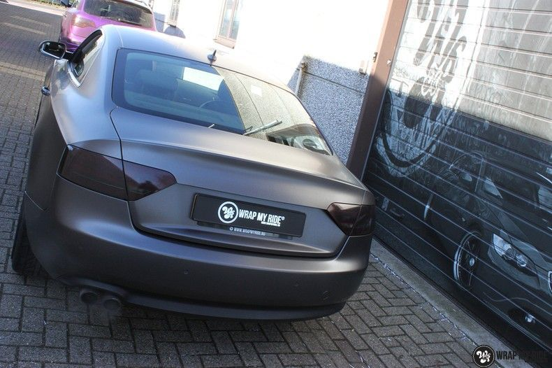 Audi A5 Satin Dark Grey, Carwrapping door Wrapmyride.nu Foto-nr:10787, ©2021