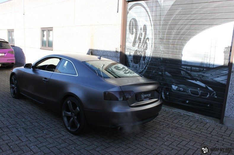 Audi A5 Satin Dark Grey, Carwrapping door Wrapmyride.nu Foto-nr:10786, ©2021