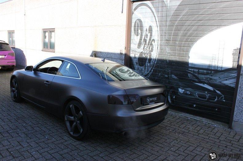 Audi A5 Satin Dark Grey, Carwrapping door Wrapmyride.nu Foto-nr:10786, ©2020