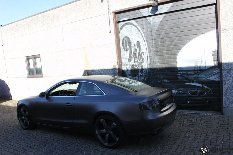 Audi A5 Satin Dark Grey, Carwrapping door Wrapmyride.nu Foto-nr:10785, ©2021