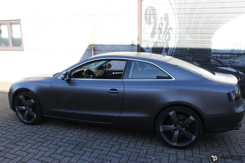 Audi A5 Satin Dark Grey, Carwrapping door Wrapmyride.nu Foto-nr:10784, ©2021