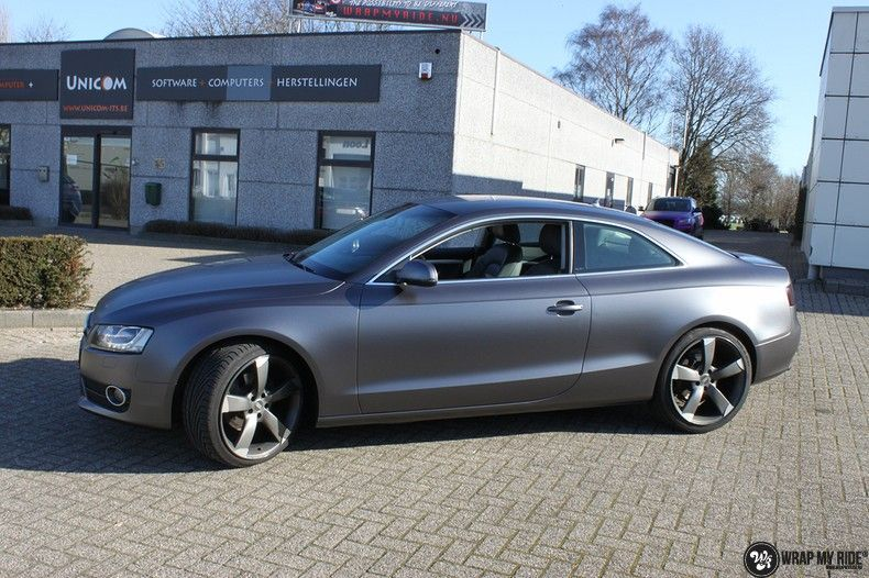 Audi A5 Satin Dark Grey, Carwrapping door Wrapmyride.nu Foto-nr:10781, ©2021