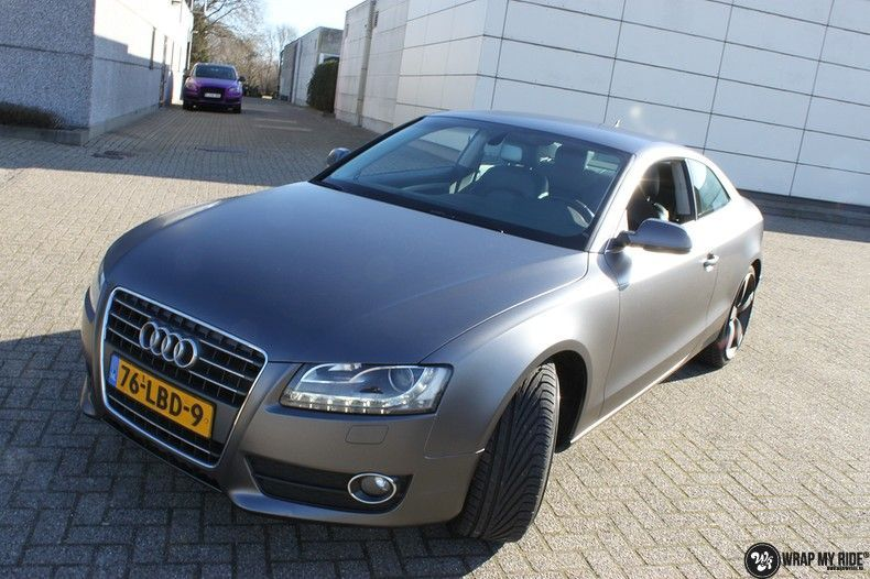 Audi A5 Satin Dark Grey, Carwrapping door Wrapmyride.nu Foto-nr:10780, ©2021
