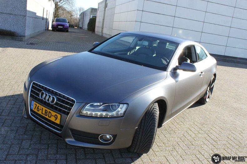 Audi A5 Satin Dark Grey, Carwrapping door Wrapmyride.nu Foto-nr:10780, ©2020