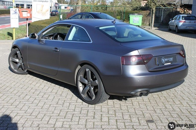 Audi A5 Satin Dark Grey, Carwrapping door Wrapmyride.nu Foto-nr:10779, ©2021
