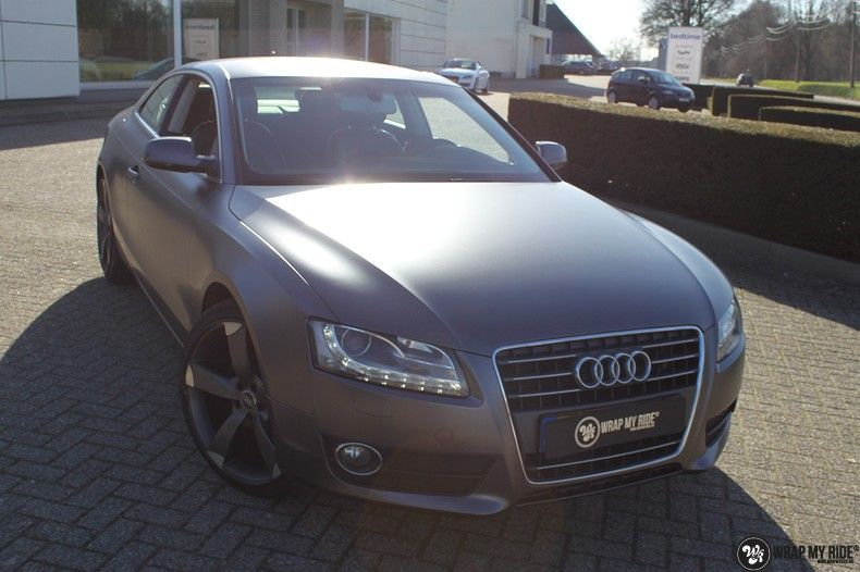 Audi A5 Satin Dark Grey, Carwrapping door Wrapmyride.nu Foto-nr:10778, ©2021