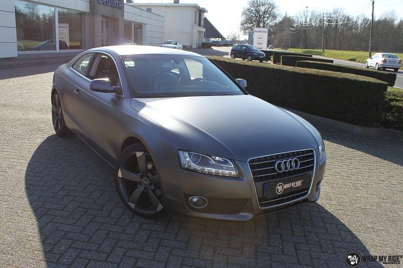 Audi A5 Satin Dark Grey, Carwrapping door Wrapmyride.nu Foto-nr:10777, ©2021