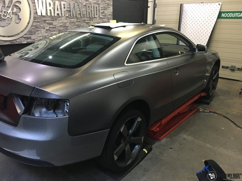 Audi A5 Satin Dark Grey, Carwrapping door Wrapmyride.nu Foto-nr:10807, ©2021