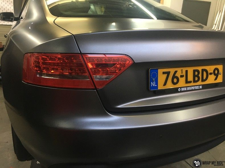 Audi A5 Satin Dark Grey, Carwrapping door Wrapmyride.nu Foto-nr:10802, ©2021