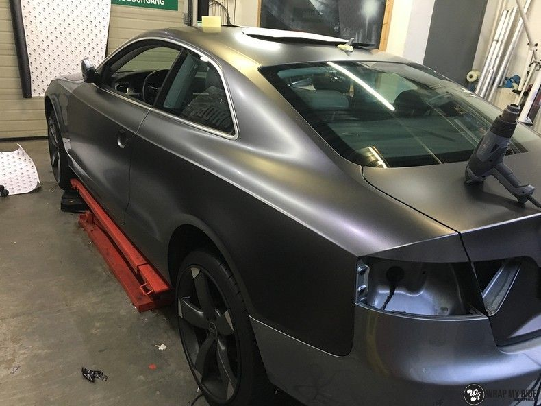 Audi A5 Satin Dark Grey, Carwrapping door Wrapmyride.nu Foto-nr:10806, ©2021