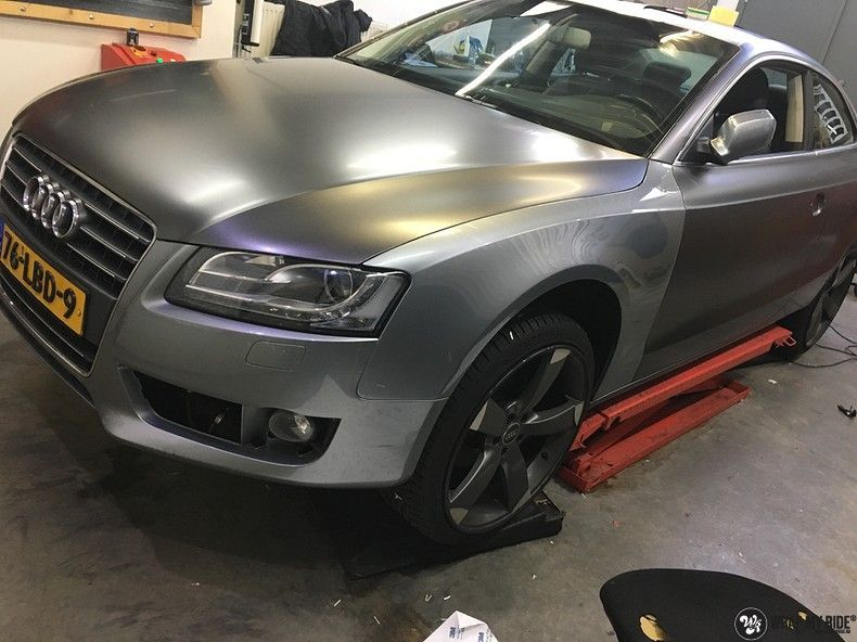 Audi A5 Satin Dark Grey, Carwrapping door Wrapmyride.nu Foto-nr:10805, ©2021