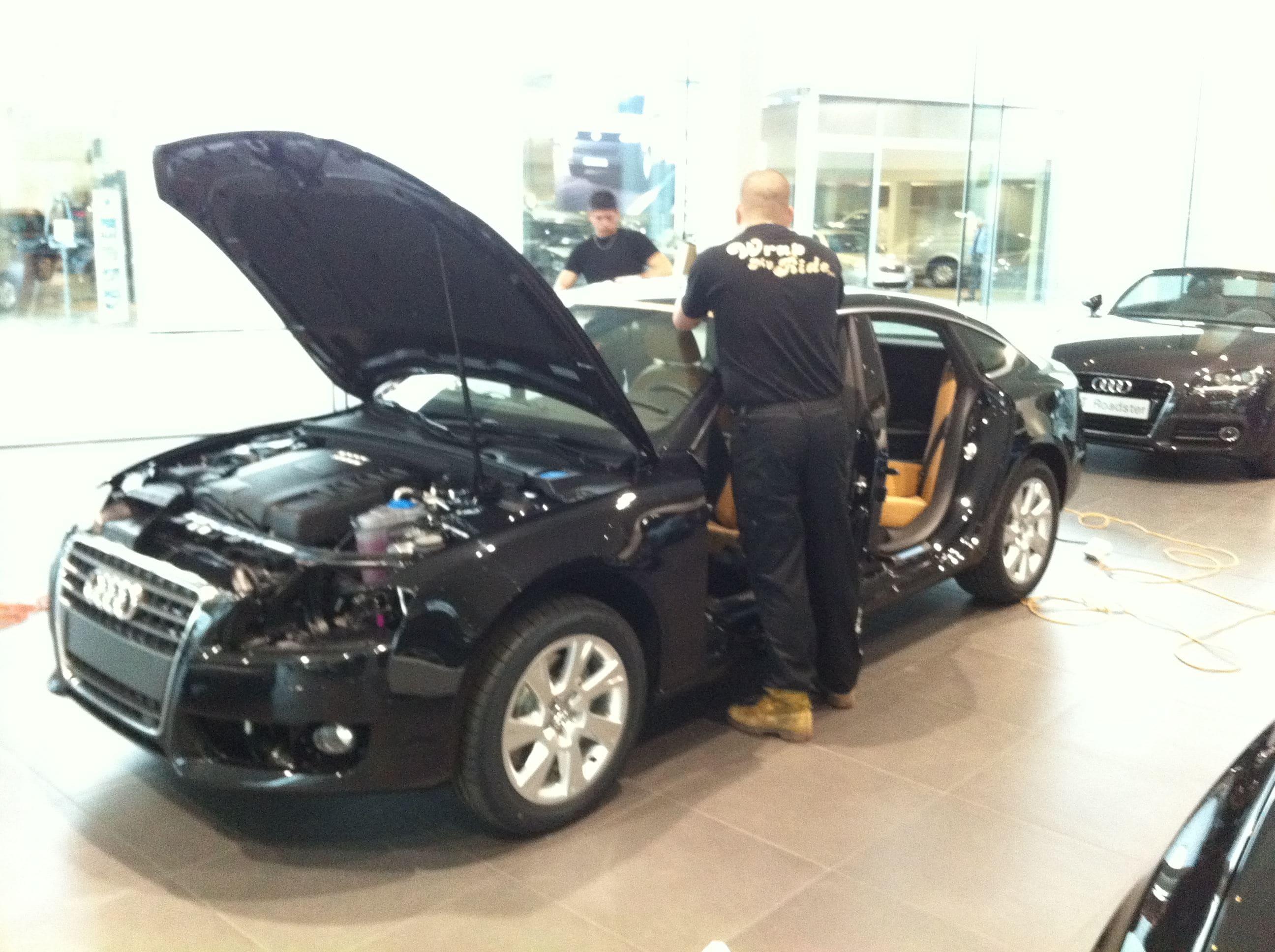 Audi A5 Sportback met Mat Grijze Wrap, Carwrapping door Wrapmyride.nu Foto-nr:4758, ©2021