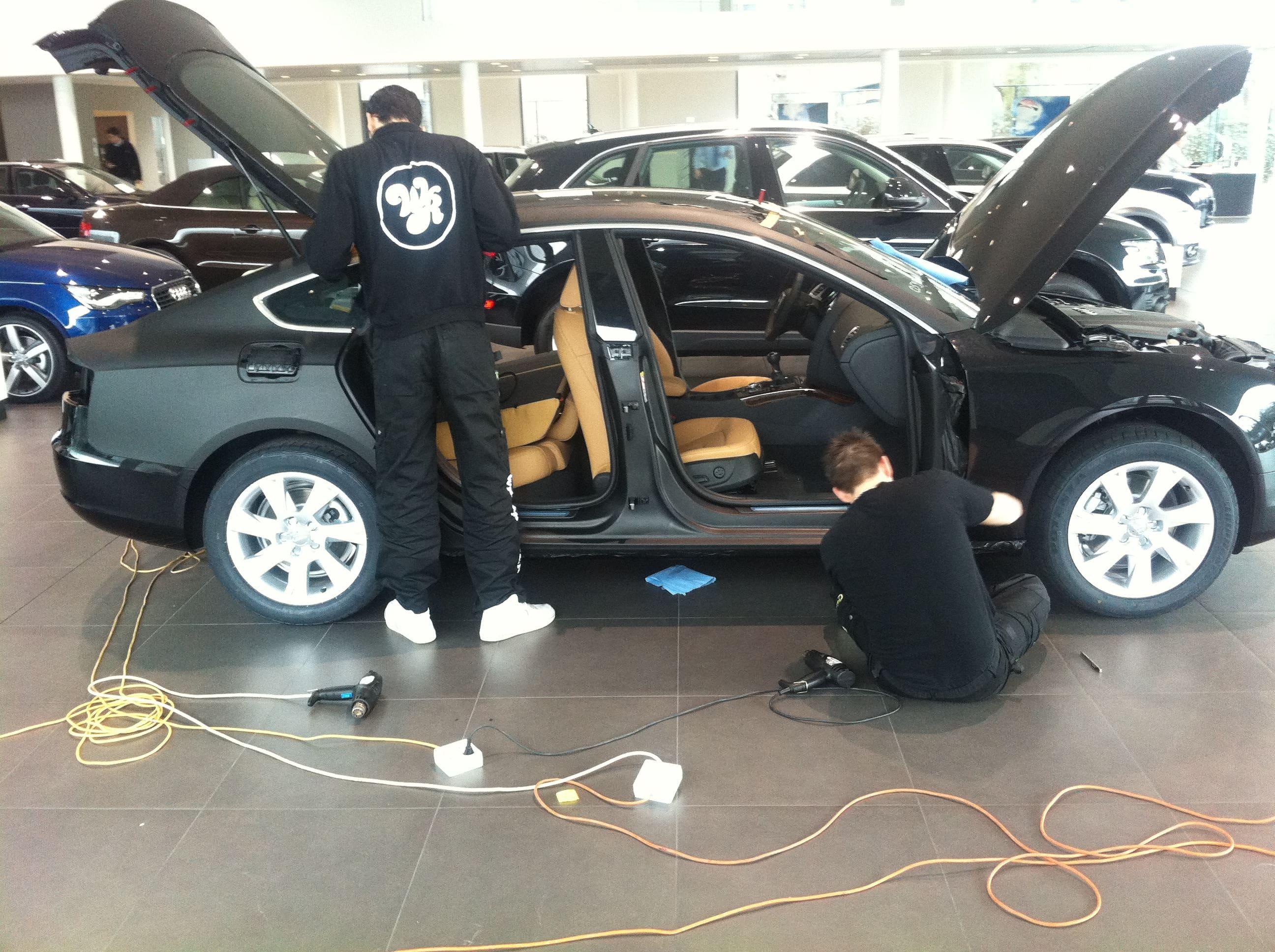 Audi A5 Sportback met Mat Grijze Wrap, Carwrapping door Wrapmyride.nu Foto-nr:4760, ©2021
