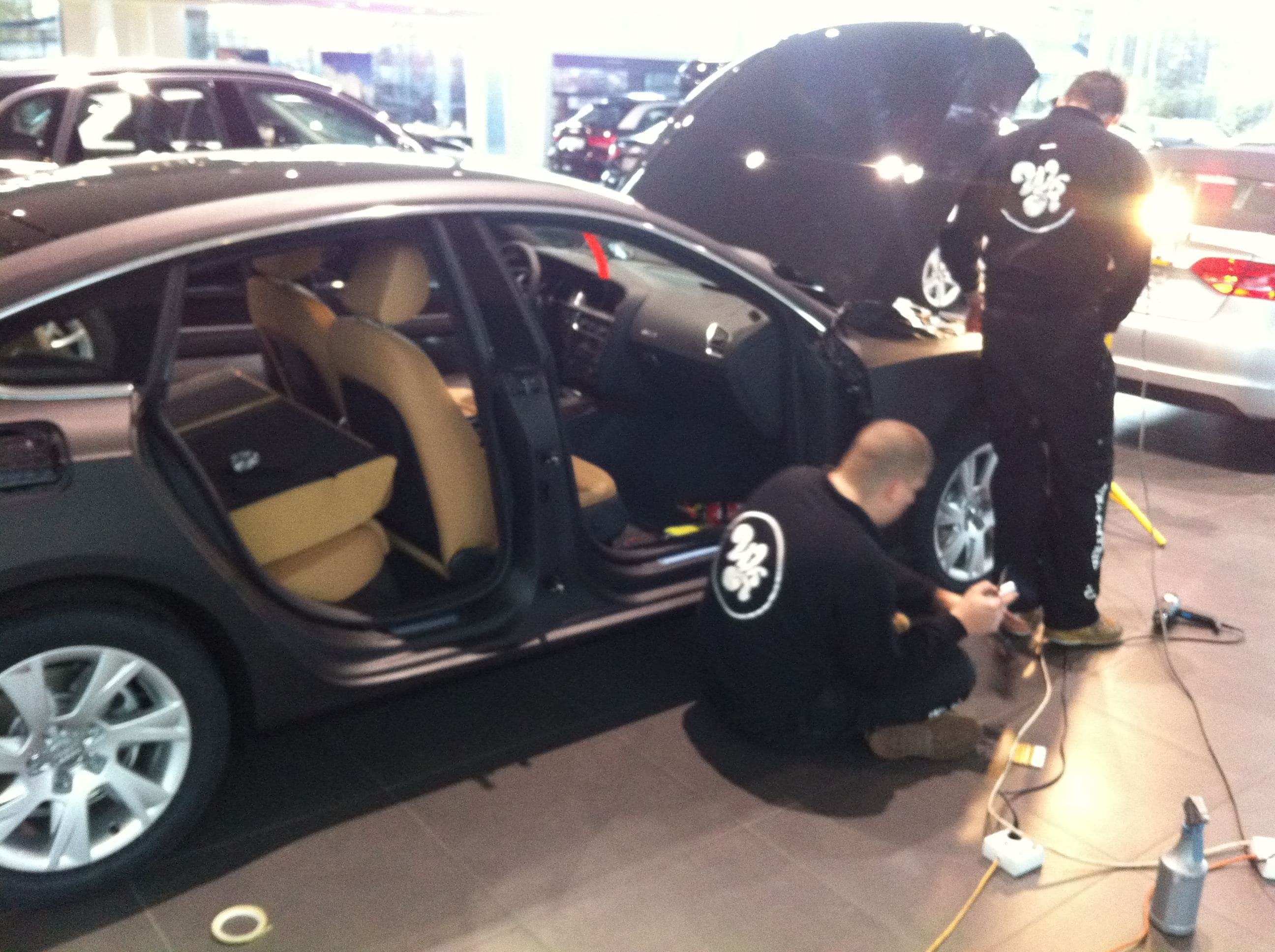 Audi A5 Sportback met Mat Grijze Wrap, Carwrapping door Wrapmyride.nu Foto-nr:4761, ©2021